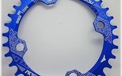 Narrow Wide Rund Kettenblatt, 34T, 104er Lochkreis *blau* rund