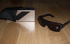 100% Sonnenbrille Unisex Burgett Oil grade/Lens: dark smoke