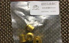 Lite Pro Aluminium Kettenblatt Schrauben gold AL7075 NEU