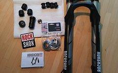 "Rock Shox Sektor RL Gold Solo Air 140 150 mm, 27,5"" tapered mit bottomless token"