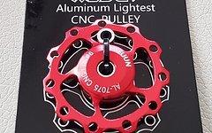 Cyconsult® Schaltwerkröllchen Set / 11 Zähne / Pully 11T *rot anodisiert* Aluminium