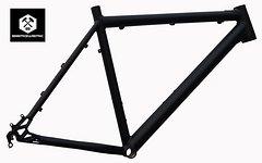 """Bergwerk Mercury Mountainbike Rahmen 56 cm in schwarz matt 26"""""""