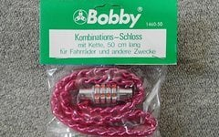 Bobby Fahrradschloss Rot Combination Lock with Chain 50cm