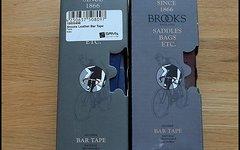 Brooks Leder Lenkerband blau