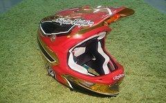 """Troy Lee Designs D3 Helm Composite Reflex Gold Crome """"Medium"""""""