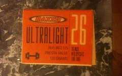 "Maxxis Ultralight 26"" MTB Tube 125 Grams"
