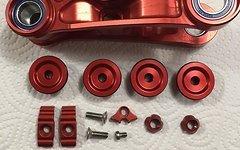 Nicolai ION G16 G15 G13 Geometron Umlenkhebel + Extra Love Parts rot eloxiert