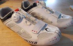 Specialized BG Comp Rennradschuhe; weiß;BOA+Klett; Gr.44
