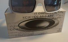Oakley Gascan weiß + grau polarisierten Gläsern
