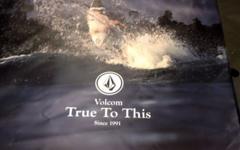 Volcom 185x199 Cm Surf Banner aus PVC