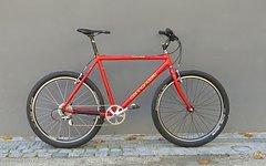 Cannondale Rahmen/Gabel-Set starr ungefedert Vintage Größe L Franck Roman Signature