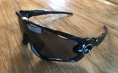 Oakley Jawbreaker Polished Black mit Black Iridium Glas