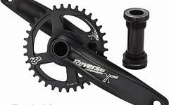 Reverse Components Kurbel X-ONE, 165mm,32T, Black Crank Set with Bottom Bracket 83mm, Narrow-wide