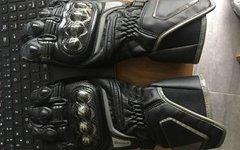Dainese D1 Long Gr. L Motorradhandschue schwarz Carbon