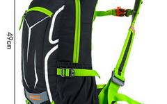 Anmeilu 18L Outdoor Rucksack schwarz neongrün TOP Bike Fahrrad Airflow System +Regenhaube +Handytasche +Netzfach für Helm