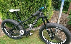 Fun Works Fatbike CARBON Custom Bike Rock Shox Bluto Gabel 120 mm Wie Neu