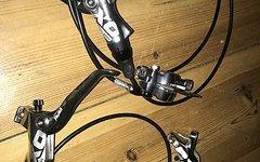 Avid X0 Trail Scheibenbremsen Satz Silber Poliert Neuwertig Carbon
