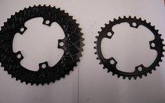 Absolute Black Kettenblätter 2 fach oval  50/38 Zähne  5x110 - NEU