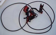 Tr!ckstuff Cleg 4 rot/schwarz, Stahlflex, + 4 Paar Bremsbeläge