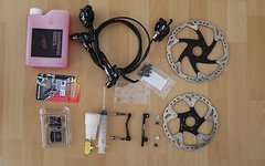 Shimano XT BR-M8000 Scheibenbremse Komplett Set