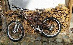 Cannondale Perp mit AKIRA TUNING Fahrwerk Custom Laufräder Freeride Downhill, AUCH TAUSCH GEGEN 650B ENDURO RAHMEN MÖGLICH
