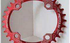 Aluminium Ovales Narrow-Wide Kettenblatt, 34T, 104er Lochkreis *rot*