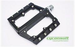 Cyconsult® Aluminium Plattform Pedale *schwarz* neutral ohne Aufdruck