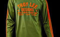 "Troy Lee Designs SUPER RETRO JERSEY ""Gr. M"" ARMY GREEN"