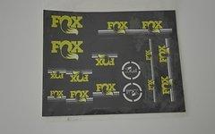 Fox Decal Sticker Set Kit für Dämpfer schwarz/ grün