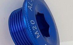 Aluminium Kurbelschraube für Shimano *blau*
