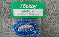 Bobby Fahrradschloss Blau Combination Lock with Chain 50cm