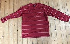 Nike Longsleeve, Dry Fit, rot gestreift