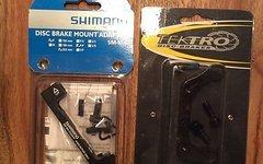 Shimano Bremsadapter Set Vorne 203mm + hinten 180mm