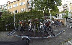 Harbeck Kanuanhänger, zum (Sport-) Fahrradanhänger umgebaut