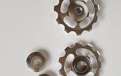Aluminium Schaltwerkröllchen Set / 11 Zähne / Pully 11T *silber*