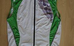 Dynamics Fahrrad Body Shirt Gr. M Trikot Aermellos Dynamics Grün Weiss anliegend XC/RR