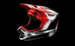 100% Aircraft DH Helm Chrome Edition, Gr. M, Rot/ Chrome