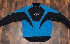 Fox Motocross und Downhill Jacke mit Protektoren Blau Größe L