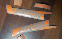 Gabeldecals Rock Shox Boxxer 2015/2016 Custom Aufkleber - glänzend Grau/matt Orange
