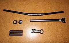 Charge Bike Parts Komplett Set - Lenker, Vorbau, Griffe, Steuerlager, Sattelstütze