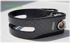 Carbon Sattelklemme 31,8mm *glossy carbon* (für 27,x mm Stütze)