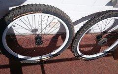 Alexrims Laufradsatz Alexrims Supra D mit Devision Nabe für Freeride und Downhill 26 Zoll
