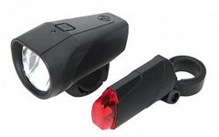 Trelock StVZO Batterielicht Set TL30-FB/01-RB Front 15/ 30 Lux