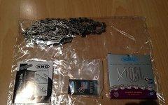 KMC Kette X10SL silber ungefahren 108 Glieder + Schloß