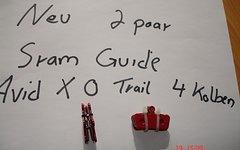 Avid X 0 TRAIL  -SRAM GUIDE 4 KOLBEN BREMSBELÄGE 2 PAAR NEU