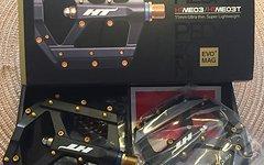 Ht Air Evo Me 03 Titan Super Lightweight Pedal Schwarz Gold Neu!!! Original Verpackt!!218g!!