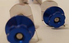 Titanium Schnellspann Achse Set / Quick Release Skewer *blau*