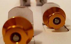 Titanium Schnellspann Achse Set / Quick Release Skewer *gold*