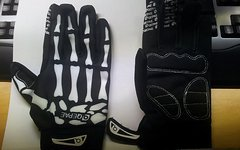 Handschuhe MtB/Trail/Enduro soft knochenlook L/XL
