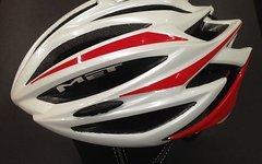 Met Helm Medium Rot weis Giro Cratoni Rennrad